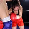 本物ライト級ボクサー藤崎紗奈恵VS男子ミニマム級のミックスボクシング