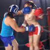 RURUKA&桃原ゆきなの巨乳が揺れるエロミックスボクシング