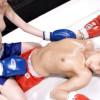 篠咲リサvs牧瀬千夏 褐色の肌のEカップ巨乳と白い肌がエロいレズボクシング