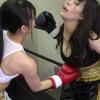 真木今日子と浅倉真凛のKO決着の女子ボクシング対決がエロい