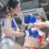 巨乳美女がハードパンチで女子ボクシング! 新村あかりVS中条カノン