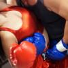 八尋麻衣&佐藤りこが頑強な覆面男にボコられるミックスボクシング