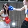 エロボディの新人女子が白熱のボクシング対決 皆月ひかるvsののか