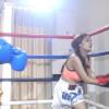 スタイル抜群のアジアン美女が賞金稼ぎで女子ボクシング Bai VS Jiao