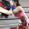 スタイル抜群のアジアン美女が女子ボクシング対決 Aoxin VS Ting