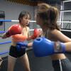 スレンダー姉妹がガチで女子ボクシング対決が美しい! Feiyang VS Yuejie